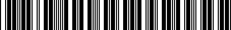 Barcode for PZQ6442097